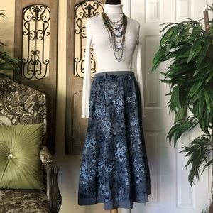 NY collection floral skirt